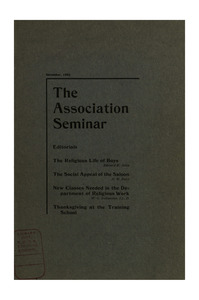 The Association Seminar (vol. 11 no. 3), December, 1902