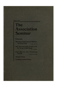 The Association Seminar (vol. 11 no. 4), January, 1903