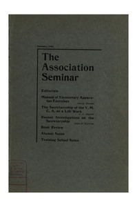 The Association Seminar (vol. 11 no. 5), February, 1903
