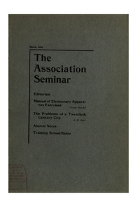 The Association Seminar (vol. 11 no. 6), March, 1903