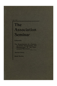 The Association Seminar (vol. 11 no. 10), July, 1903