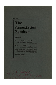 The Association Seminar (vol. 11 no. 7), April, 1903