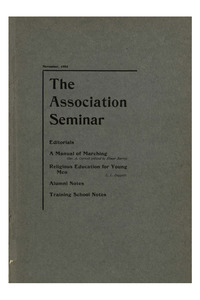 The Association Seminar (vol. 12 no. 02), November, 1903