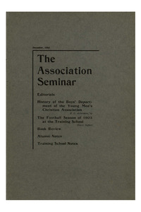 The Association Seminar (vol. 12 no. 03), December, 1903