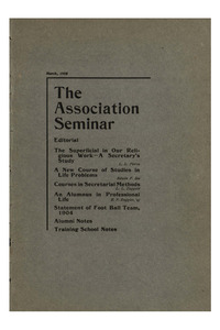 The Association Seminar (vol. 13 no. 06), March, 1905