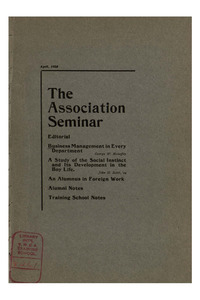 The Association Seminar (vol. 13 no. 07), April, 1905