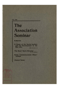 The Association Seminar (vol. 13 no. 10), July, 1905