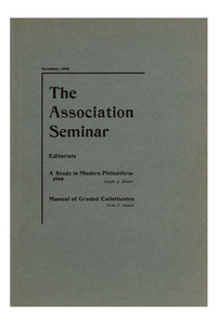 The Association Seminar (vol. 14 no. 2), November, 1905