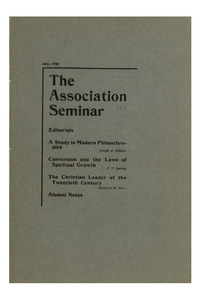 The Association Seminar (vol. 14 no. 10), July, 1906