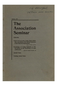 The Association Seminar (vol. 16 no. 1), October, 1907