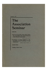 The Association Seminar (vol. 16 no. 3), December, 1907