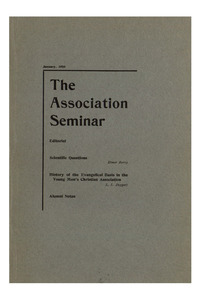 The Association Seminar (vol. 16 no. 4), January, 1908