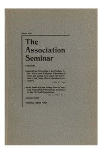 The Association Seminar (vol. 16 no. 6), March, 1908