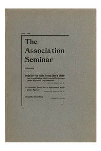 The Association Seminar (vol. 16 no. 7), April, 1908