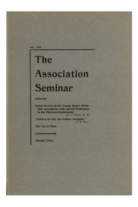 The Association Seminar (vol. 16 no. 10), July, 1908
