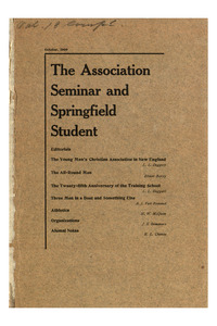 The Association Seminar (vol. 18 no. 1), October, 1909