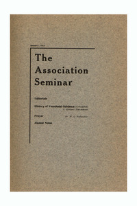 The Association Seminar (vol. 21 no. 4), January 1913