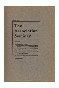 The Association Seminar (vol. 21 no. 5), February 1913