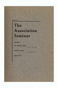The Association Seminar (vol. 21 no. 6), March 1913