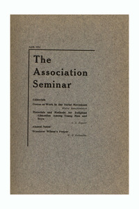 The Association Seminar (vol. 21 no. 7), April 1913