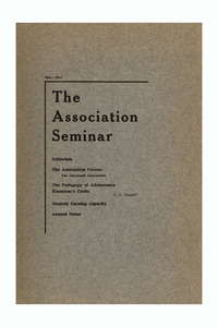 The Association Seminar (vol. 21 no. 8), May 1913