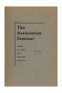 The Association Seminar (vol. 21 no. 10), July 1913