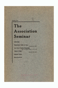 The Association Seminar (vol. 22 no. 1), October 1913
