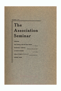The Association Seminar (vol. 22 no. 2), November 1913