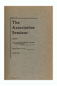 The Association Seminar (vol. 22 no. 3), December 1913