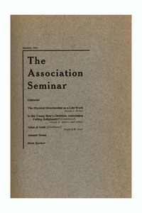 The Association Seminar (vol. 22 no. 4), January 1914