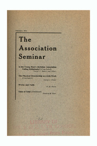 The Association Seminar (vol. 22 no. 5), February 1914