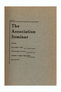 The Association Seminar (vol. 22 no. 7), April 1914