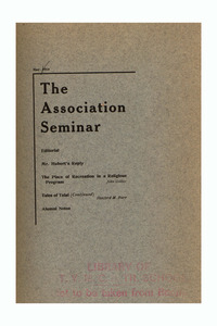 The Association Seminar (vol. 22 no. 8), May 1914