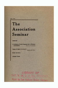 The Association Seminar (vol. 22 no. 9), June 1914