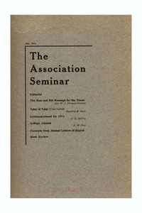 The Association Seminar (vol. 22 no. 10), July 1914