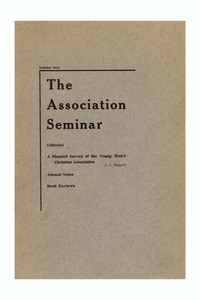 The Association Seminar (vol. 23 no. 1), October 1914