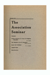The Association Seminar (vol. 23 no. 3), December 1914