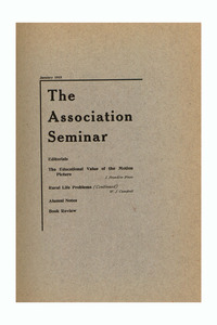 The Association Seminar (vol. 23 no. 4), January 1915