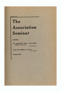 The Association Seminar (vol. 23 no. 5), February 1915