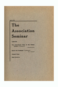 The Association Seminar (vol. 23 no. 6), March 1915