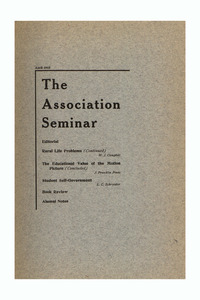 The Association Seminar (vol. 23 no. 7), April 1915