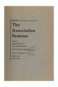 The Association Seminar (vol. 23 no. 8), May-June 1915