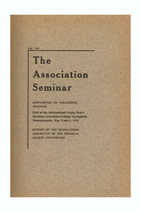 The Association Seminar (vol. 23 no. 9), July 1915