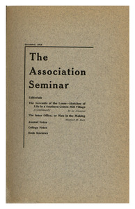 The Association Seminar (vol. 24 no. 3), December 1915