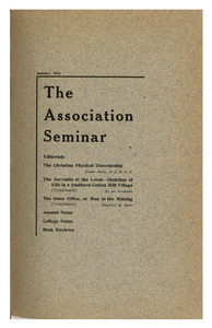 The Association Seminar (vol. 24 no. 4), January 1916