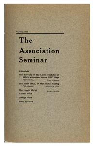 The Association Seminar (vol. 24 no. 5), February 1916