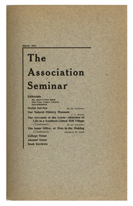 The Association Seminar (vol. 24 no. 6), March 1916