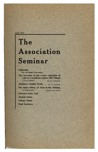 The Association Seminar (vol. 24 no. 7), April 1916