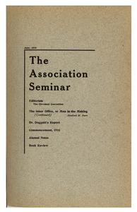 The Association Seminar (vol. 24 no. 9), June 1916