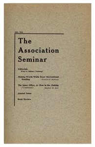 The Association Seminar (vol. 24 no. 10), July 1916